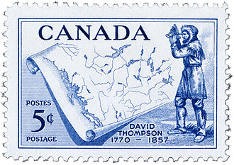 David Thompson (explorer) - Postage stamp commemorating David Thompson's life