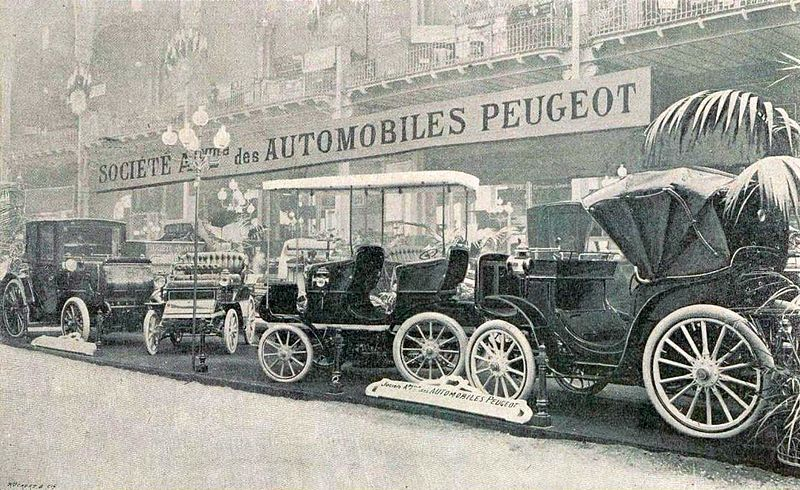file stand peugeot au salon de l 39 automobile de paris janvier 1901 grand palais jpg. Black Bedroom Furniture Sets. Home Design Ideas
