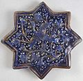 Star tile with flying crane from Iran, early 14th century, glazed stone-paste, HAA.JPG