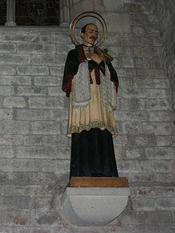 Statue of Saint Joseph Oriol - Santa Maria del Mar - Barcelona 2014.jpg