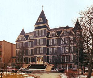 Université Sainte-Anne - The main administration building at Université Sainte-Anne in Church Point Nova Scotia, was designed by William Critchlow Harris and erected in 1889.