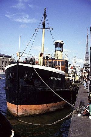 RFA Freshspring - Image: Steam Ship Freshspring, Prince's Wharf, Bristol geograph.org.uk 665758