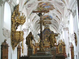 Stams - Image: Stift Stams church inside