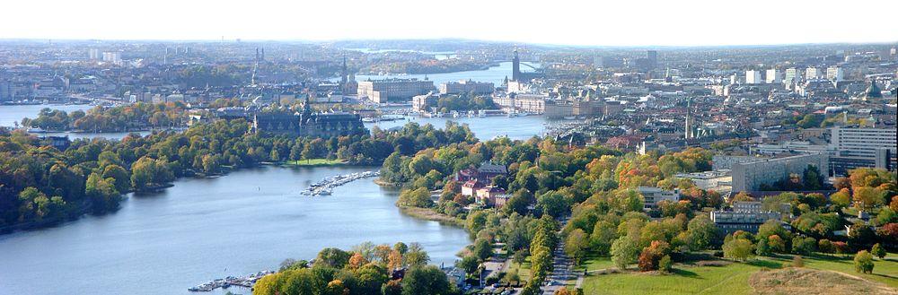 Panorama fra Kaknästornet.