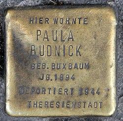 Photo of Paula Budnick brass plaque