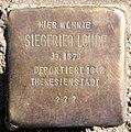 Stolperstein Barbarossastr 53 (Schön) Siegfried Lohde.jpg