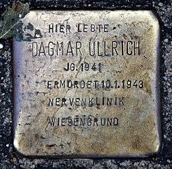 Photo of Dagmar Ullrich brass plaque