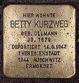 Stolperstein Eisenzahnstr 65 (Wilmd) Betty Kurzweg.jpg