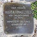 Stolperstein Hussitenstr 6 (Gesbr) Marta Finkelstein.jpg