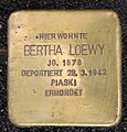 Stolperstein Motzstr 13 (Schön) Bertha Loewy.jpg
