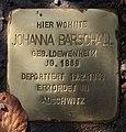 Stolperstein Westfälische Str 85 (Wilmd) Johanna Barschall.jpg