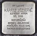 Stolperstein für Jozsefne Karasz (Szeged).jpg