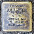 Stumbling block for Julia Mayer (Agrippastraße / Kämmergasse)