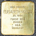 Stolpersteine Familie Moses Elisabeth-Moses Elisenstraße 3 Köln.jpg