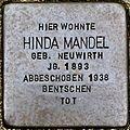 Stumbling stone for Hinda Almond (Lungengasse 41)