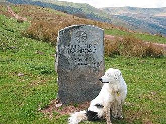 Bryn Oer Tramway - Stone marker