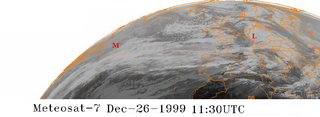Cyclones Lothar and Martin severe weather events in Europe December 1999