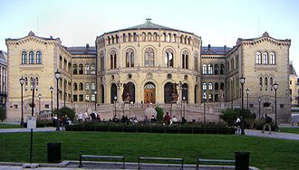 1866 in Norway - The official inauguration of the Parliament of Norway Building