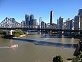 Story Bridge, Brisbane CBD Skyline July 2014. 01.JPG