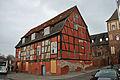 Stralsund, Am Kütertor 1, Fachwerkgebäude (2012-04-10), by Klugschnacker in Wikipedia.jpg