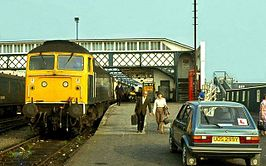 Stranraer Harbour railway station in 1983.jpg