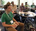 Structured Data on Commons data modelling session at the Wikimania 2019 Hackathon (cropped).jpg