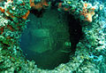 Submerged porthole of USS Arizona.jpg