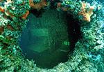 Submerged porthole of USS Arizona.jpg