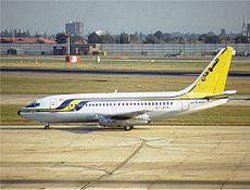 Sudan Airways Boeing 737-200 in 1989