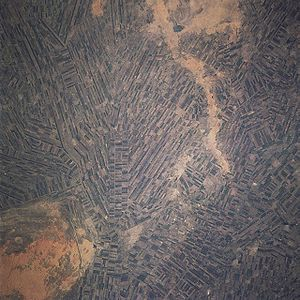 Irrigation management - Irrigation canals of the Gezira Scheme, Sudan, from space, 1997, with the utility type of management. The water comes from the Blue Nile