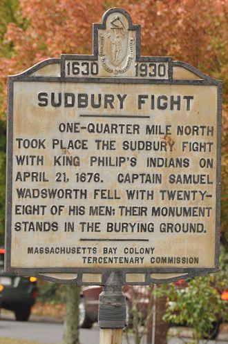 Attack on Sudbury - Marker commemorating the attack