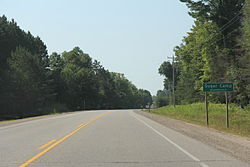 The sign for Sugar Camp, Wisconsin on WIS17