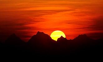 Surya - Surya means Sun in Indic literature. Above: Sunrise in Uttarakhand, India