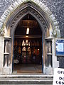 Sutton, Surrey, Greater London, St Nicholas Church entrance.JPG