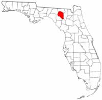 佛罗里达州萨旺尼县地图