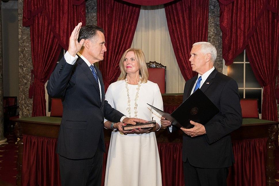 Swearing in of Mitt Romney
