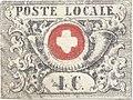 Swiss Post local Canton of Vaud stamp 1849.jpg
