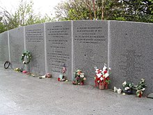 Flowers at the Bayswater memorial