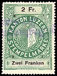 Switzerland Lucerne 1897 revenue 6 2Fr - 62 - E 1 97.jpg