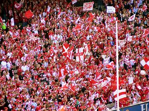 2006 AFL Grand Final - The Red and White army celebrate a goal at the AFL Grand Final