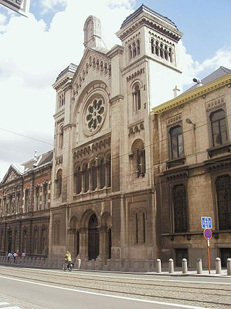 The Holocaust in Belgium - The Great Synagogue of Brussels, built in 1875.