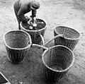 Szigetszentmiklós 1970, cabbage, wicker baskets, Fortepan 87271.jpg