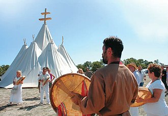 Hungarian Native Faith - Ritual performed at the Temple of the Seven Images of the Mother of God.