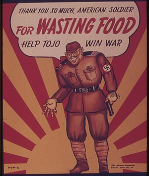 Hideki Tojo - U.S. wartime propaganda caricatured Tojo as the face of the enemy.