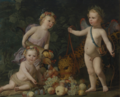 THREE CHILDREN WITH FRUIT AND A JAGUAR.PNG