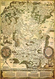 Tabula Hungariae earliest surviving printed map of Hungary