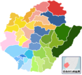 Tainan colored map.png
