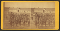 Taken at Fort Wingate, Dec. 11, 1871 (a group of native Americans and Burros in front of a building.), from Robert N. Dennis collection of stereoscopic views.png