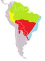 Tamandua tetradactyla map.png