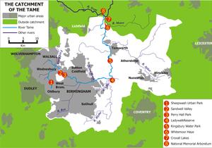 River Anker - Image: Tame West Midlands map